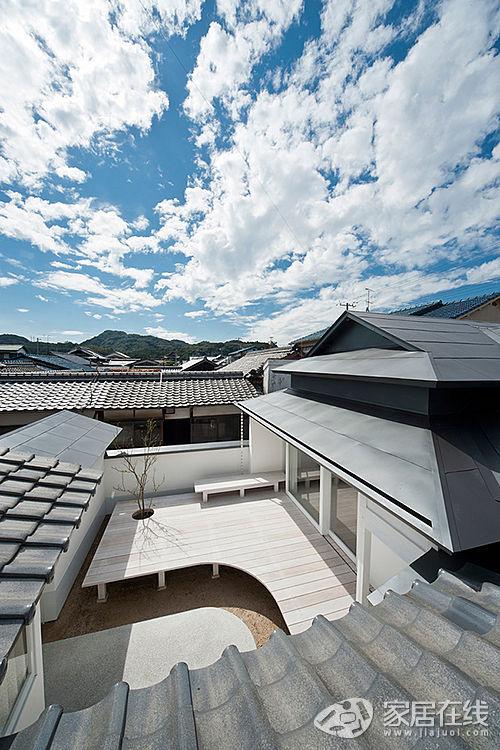 蓝天白云下的白色简约宿舍 打造日式禅屋意境