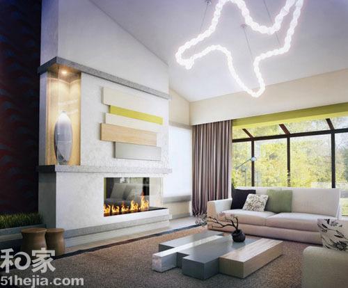 寻味自然色调 12个现代客厅清新弥漫