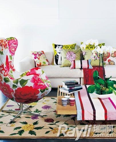 自然系花纹装饰新LOOK家中拥抱田园美景
