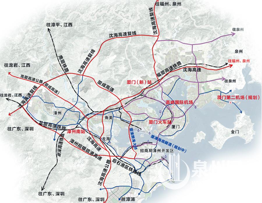 漳州台商投资区(角美)至海沧石塘,有709路;角美至海沧未来海岸,有830