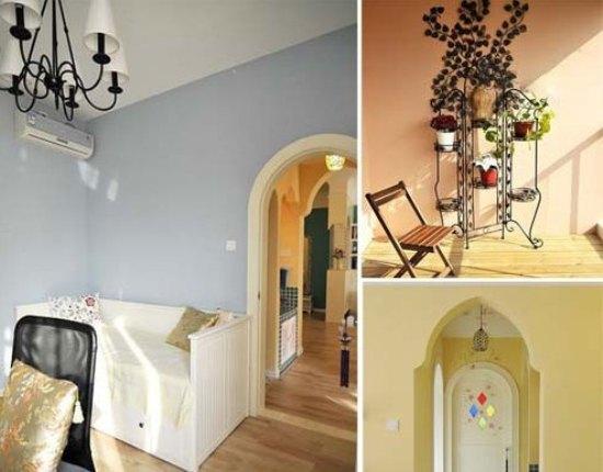 植物和实木椅子,休闲惬意.   小编总结:   室内装修效果图温高清图片