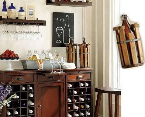2013家装酒柜效果图:古色古香又很精致的酒柜,实在是无可挑高清图片