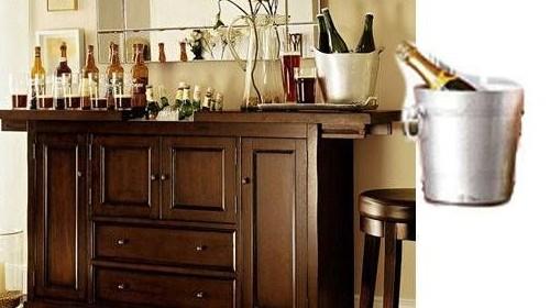 2013家装酒柜效果图:家庭装饰酒柜的设计有了吧台的映衬更高清图片