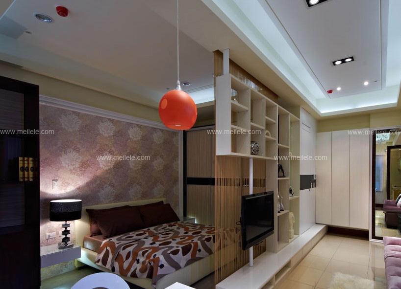 卧室木隔断造型效果图