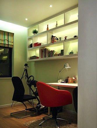 南北通透装修效果图 130平米三室两厅亮色系