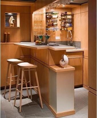 家庭吧台设计效果图 增添家居情趣