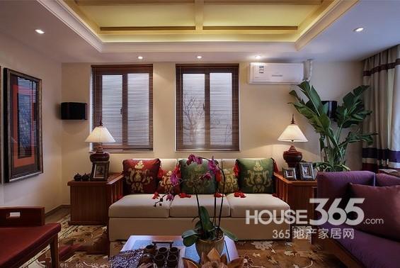 印度风情家装效果图 85平两居室设计