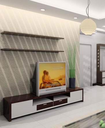 客厅电视背景墙装修效果图 摆脱单调走向精彩高清图片