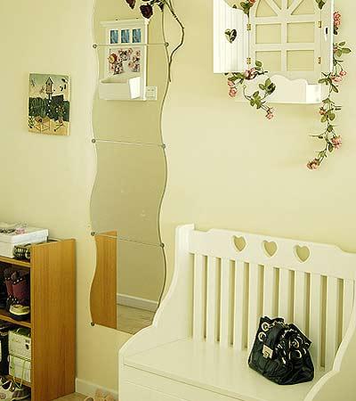 窗台花架,可当鞋柜用的换鞋凳-浪漫田园装修效果图 享受家居时光