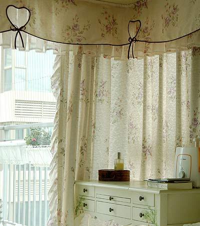 很好看的窗帘帘头式样吧-浪漫田园装修效果图 享受家居时光