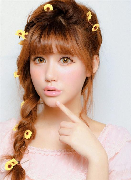 甜美樱桃 日系新娘妆造型