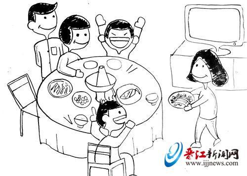 早时由于晋江侨乡外出谋生者甚多,回家过年吃团圆饭,共享天伦之乐