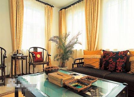 中式客厅装修效果图大全2014图片:古典元素的沙发靠背-中式客厅装