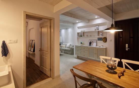 原木风清新家居 92平北欧风格小户型