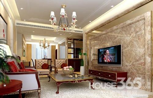 简欧电视墙造型:欧式风格的大理石电视背景墙设计.-简欧电视墙造