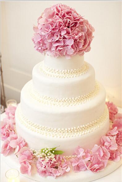 浪漫唯美婚礼蛋糕图片 打造小清新婚礼