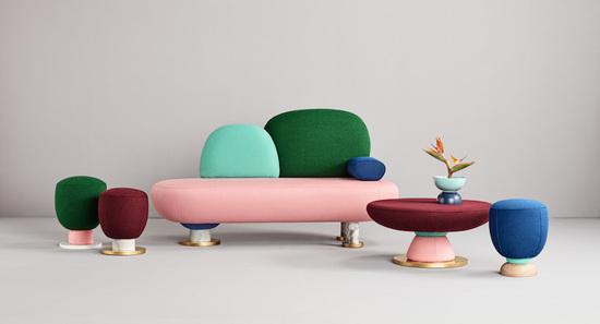 """色彩明快的""""毒蘑菇""""系列家具"""