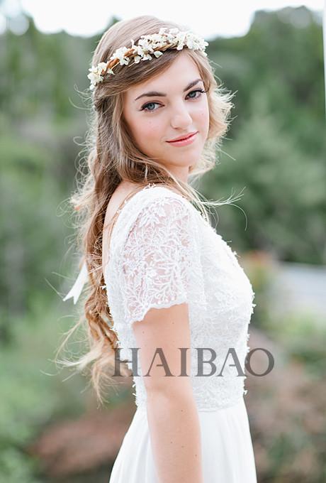 抛开头纱!用花环打造2016最热波西米亚风情新娘