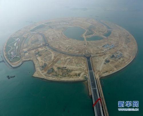 漳州-我国首个大型离岸式人工岛双鱼岛大桥建成通车