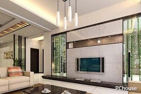 客厅艺术玻璃背景墙
