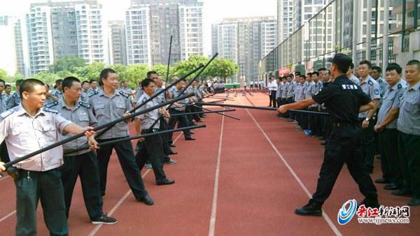800多名校园保安集中培训