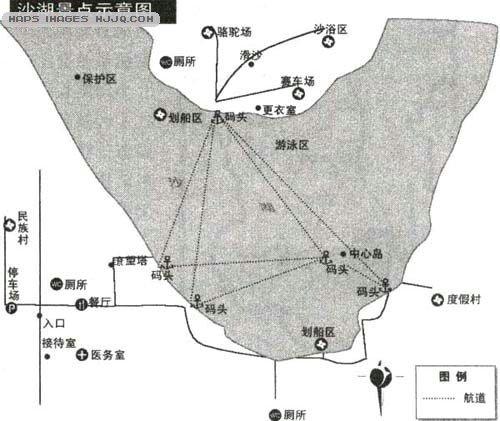 宁夏沙湖景区地图与自驾游线路攻略