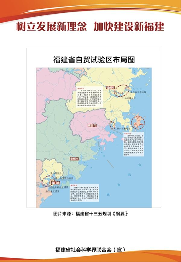福建省自贸试验区布局图