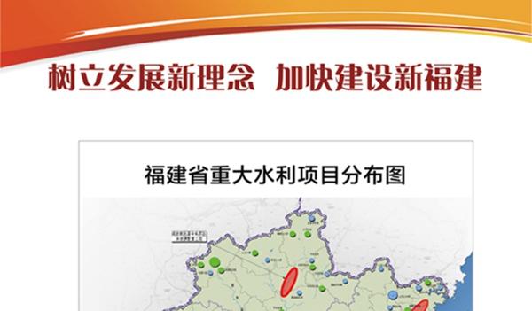 福建省重大水利项目分布图