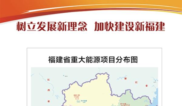 福建省重大能源项目分布图