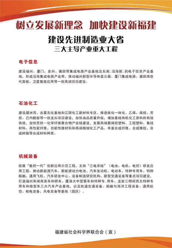 建设先进制造业大省:三大主导产业重大工程