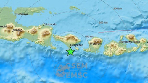 印尼巴厘岛发生6.4级地震