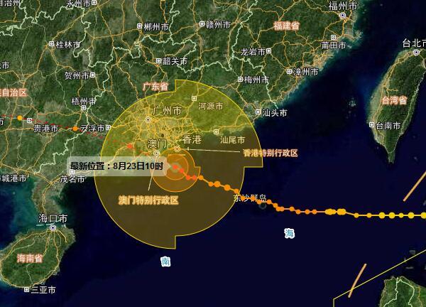 第13号台风 天鸽 动态