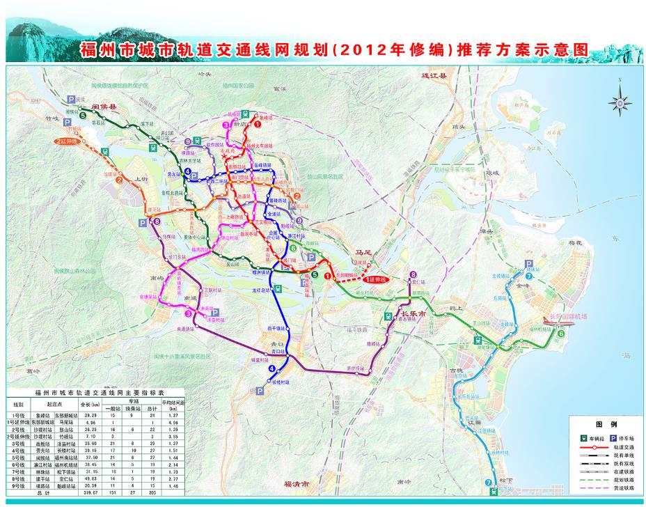 福州市轨道交通远景规划线网示意图(来源:福州地铁官网)    关于5
