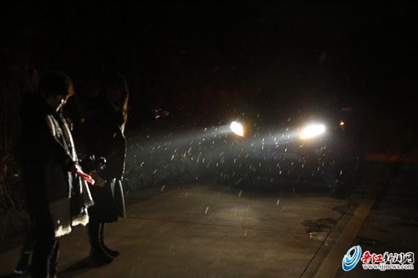 百年一遇 晋江下雪