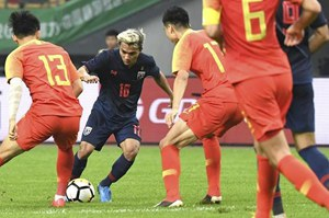 中国杯:破门乏术 国足0:1负泰国