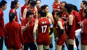 世界女排联赛澳门站首战 中国女排完胜泰国
