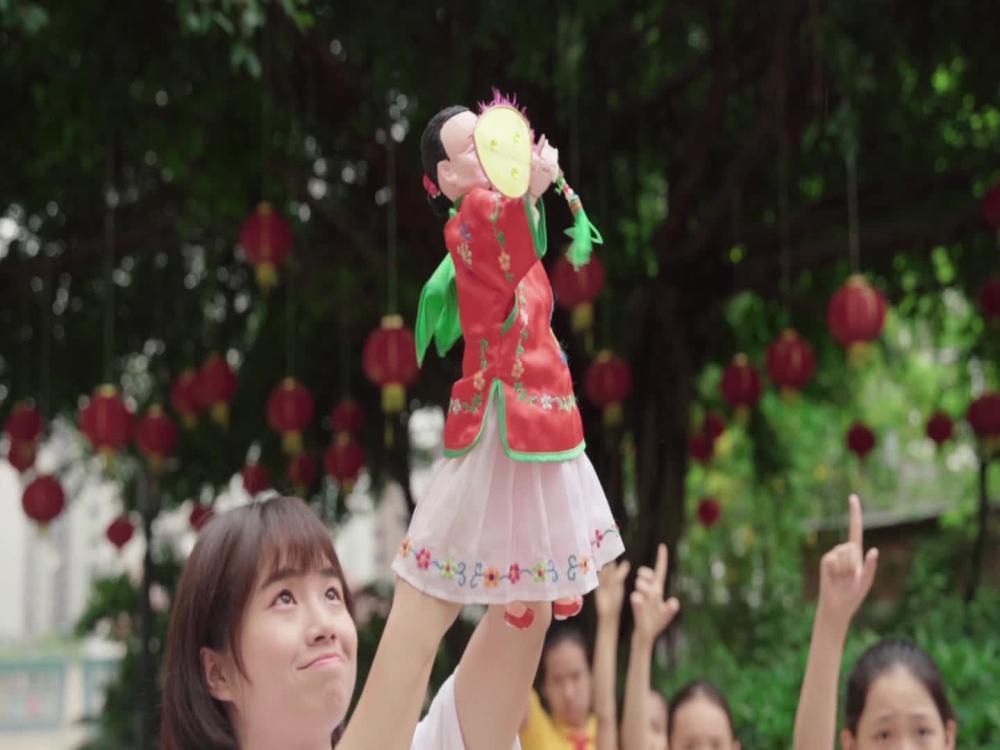 晋江市实验小学木偶手指操表演