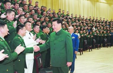 习近平分别接见联勤保障部队第一次党代会代表、驻湖北部队副师职以上领导干部和团级单位主官