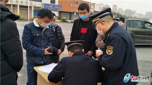 晉江城管百余人員 增援一線值勤