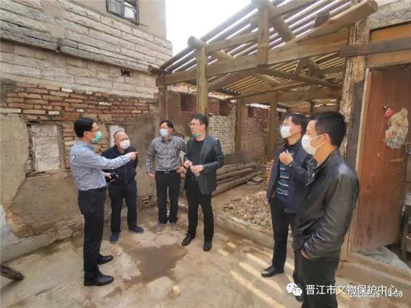 晋江市文旅局开展文物安全暨在建修缮工程复工情况检查