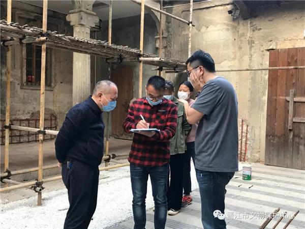 驻晋江市文旅局纪检监察组督查文物安全检查