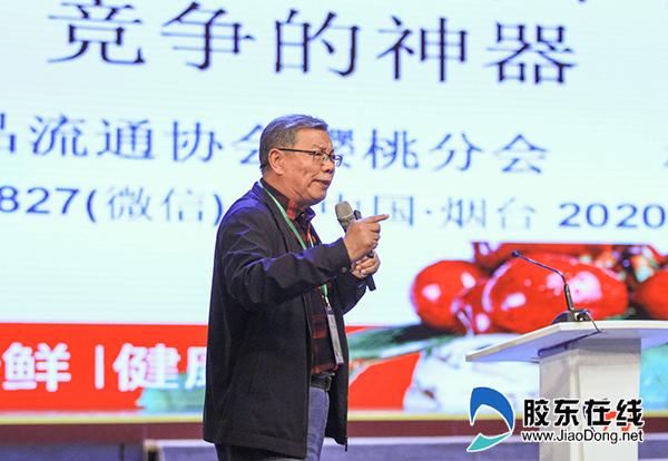中國櫻桃產業功勛人物、中國中國果品流通協會特聘專家、櫻桃分會名譽理事長楊杰激情致辭,為中國大櫻桃代言