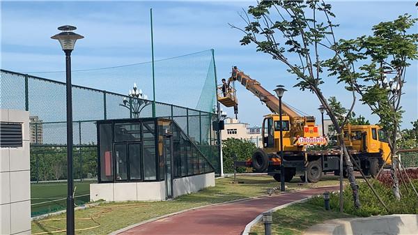 晋江市足球训练中心(足球公园)即将完成改造提升