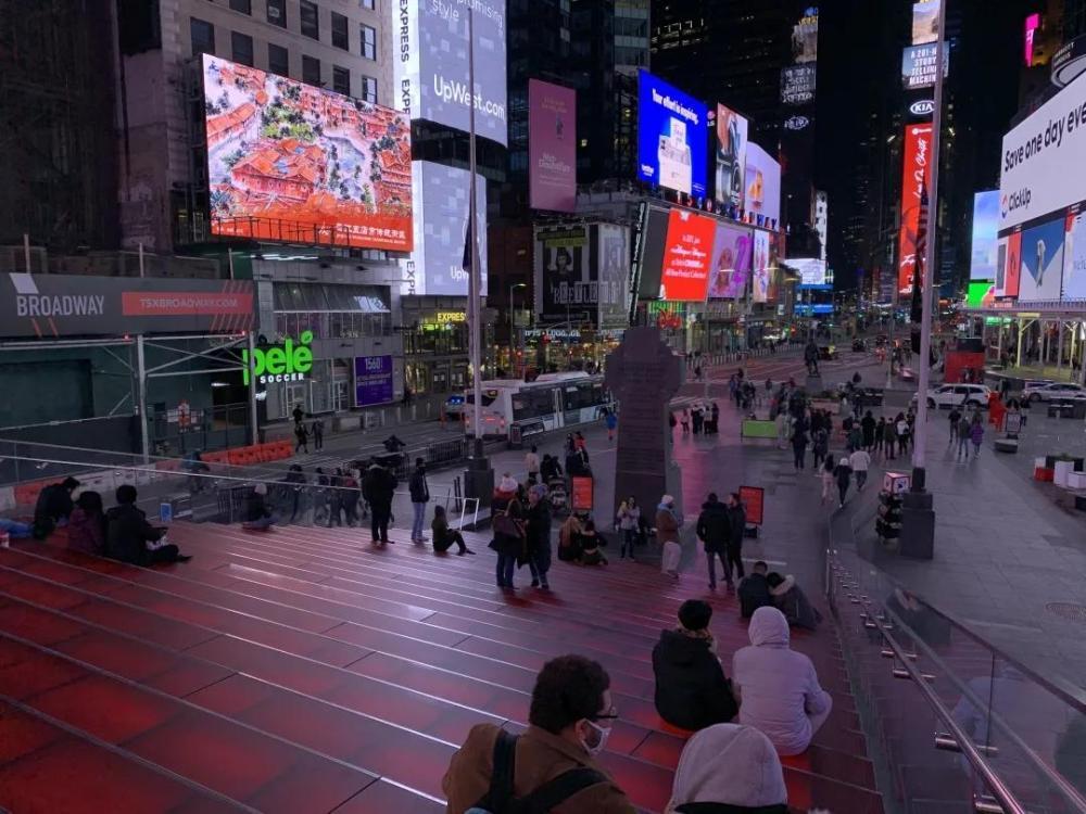 赞!晋江元素集中亮相纽约时代广场!五店市、梧林、围头,还有……